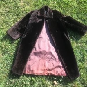VINTAGE Claremure ltd. Faux-Fur Coat